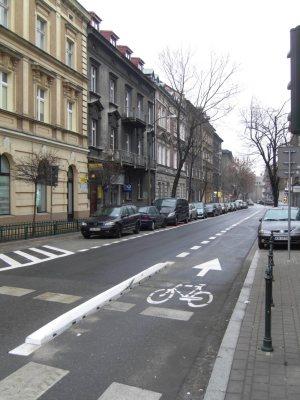 Kontrapas rowerowy na ul. Szlak