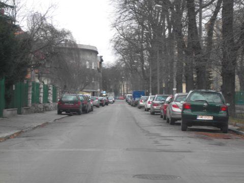 ul. Olszańska, Kraków. Widok w stronę ul. Rakowickiej